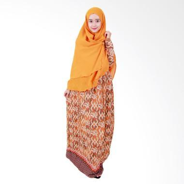 Batik Putri Ayu Solo GH1 Batik Gamis Syari - Kuning