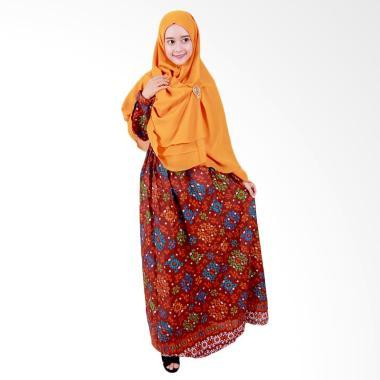Batik Putri Ayu Solo GH1 Batik Gamis Syari - Maroon