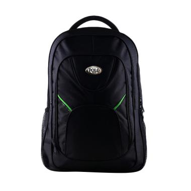 Polo Black Campus Simple Striped Gr ... as Ransel with Rain Cover