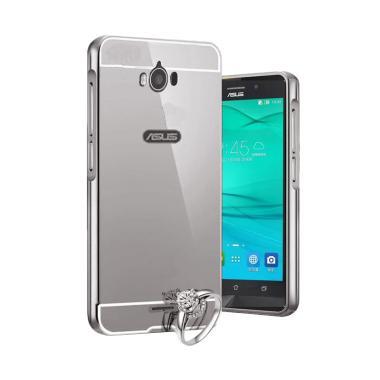 Bumper Mirror Casing for Asus Zenfone Max - Silver