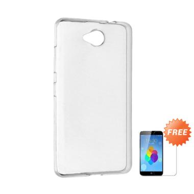 Case Ultra Thin Softcase Casing for Nokia Lumia 630 - Clear + Free Tempered Glass
