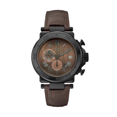 Guess Collection Leather Jam Tangan Pria Gc X90003G4S - Coklat