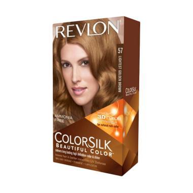 Revlon Colorsilk Beautiful 57 Cat Rambut - Lightest Golden Brown