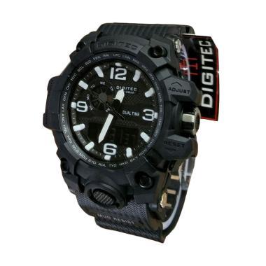 Digitec DG2093 Dual Time Jam Tangan Sport Pria - Black White