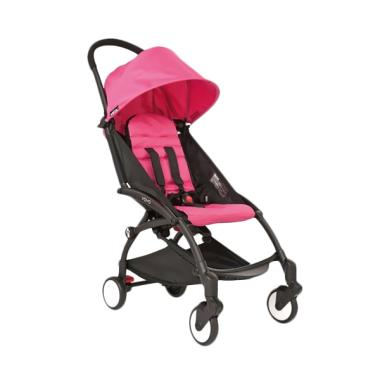 Babyzen Yoyo Baby Stroller - Black Frame Pink [Complete Set]