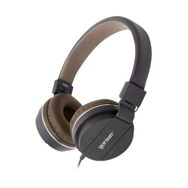 Gorsun GS-779 Adjustable Foldable Wired Stereo Music Headset - Coffee