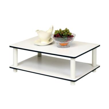 DIJAMIN MURAH - Funika 11172 WH(Ex)-WH Coffee Table - Putih [2 Tingkat]