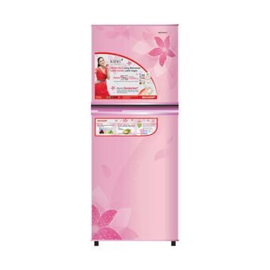 SHARP SJ-236ND-FP Kirei II Refriger ... ower Pink [2 Pintu/187 L]