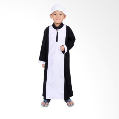 BajuYuli KGS01 Gamis Anak - Putih Hitam