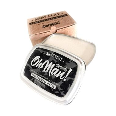 MURAH..!!! Oh Man Pomade Army Clay The Professional Matte Waterbased Pomade [3 OZ]