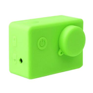 Brica Silicone Case & Lens Cap for  ... E2s Action Camera - Hijau
