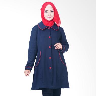 Believe BJM-02 Parka Ziper Hoodie C ... aket Muslim Wanita - Biru