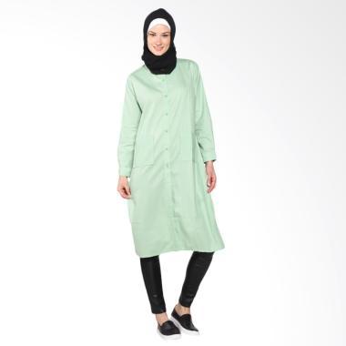 Chick Shop Simple Plain Long Shirt  ... Baju Moslem - Light Green