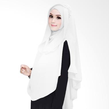 Kus Group Hijab Khimar Al Zaina Kerudung Instan Syar'i - Putih