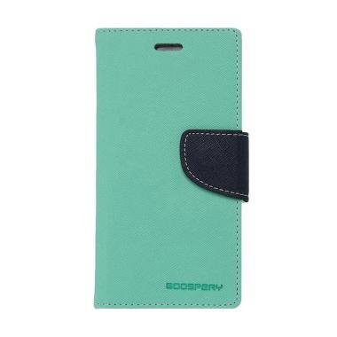 Mercury Fancy Diary Casing for Xiaomi Note - Hijau Tua Biru Laut