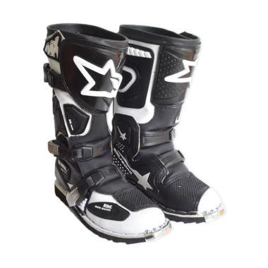 RNL Sepatu Motocross MX-New - Hitam Putih [SEP6013-HITAMPUTIH-42]