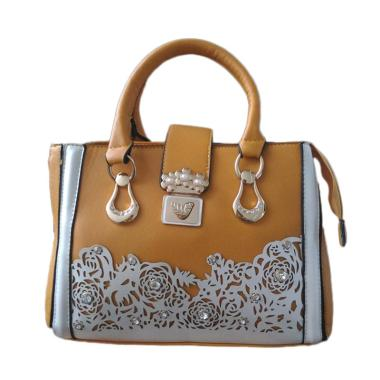 Guess Collection Branded Unik Import Satchel Bag - Brown