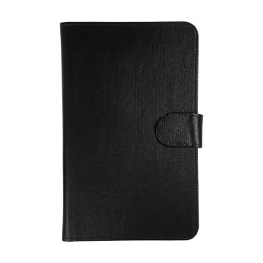 Universal Leather Sarung Dompet Casing for Tablet 7 Inch - Hitam