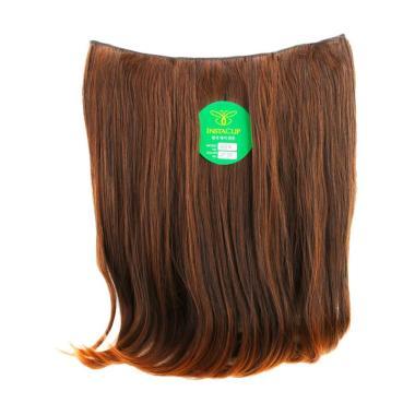 Instaclip Hairclip Big Layer Short Blow 40 cm Hair Clip - Coklat Muda