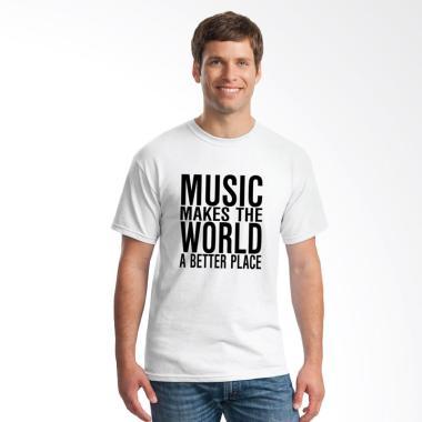 Jersi Clothing Music for the World Flock Print Kaos Pria