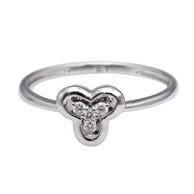 Tiaria DHTXHJZ089 Diamond Ring Emas Putih [18 K]