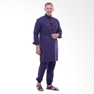 Zaidan Tunik dan Celana Panjang Ste ... ria - Biru Tua TBT0042017