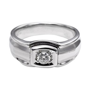 Tiaria DHTXHJZ079 Diamond Ring Emas Putih [18 K]