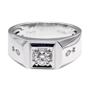 Tiaria DHTXHJZ088 Diamond Ring Emas Putih [18 K]