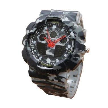 Fortuner Dual Time FR AD9033 AG Jam Tangan Sport Pria - Grey Army