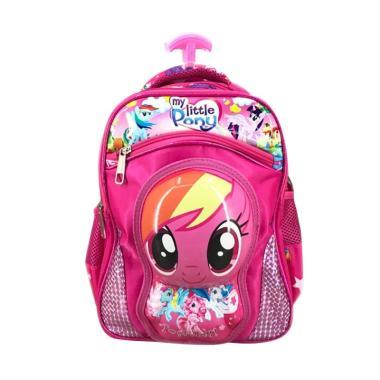 Bravery My Little Pony 3D Boneka Timbul Tas Troley Sekolah Anak