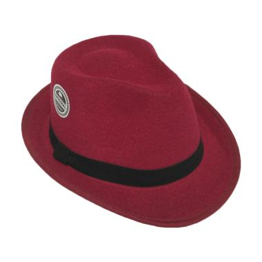 D & D Hat Collection Fedora Hat For Kids Topi Anak ��� Maroon
