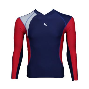 Lasona BM-S2877-L4 Baju Atasan Rena ... jang - Biru Dongker Merah