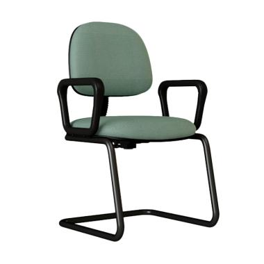 Verona Chair KH-550-TK Type Standard Vinyl Kursi Kantor - Abu-abu