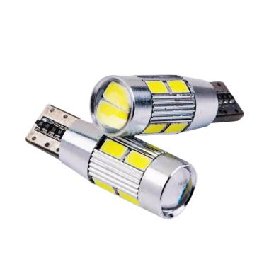 JMS T10 Wedge Side CANBUS 10 SMD 5730 Lampu LED For Mobil Dan Motor - Pink [1 Pair/2 Pcs]