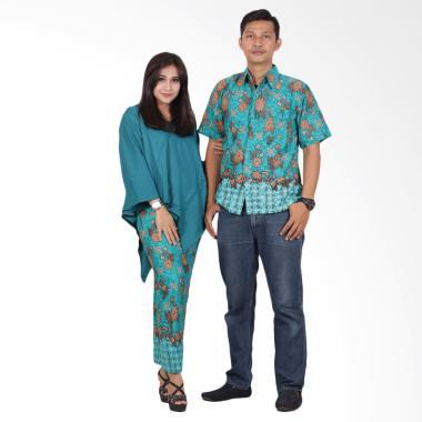 Batik Putri Ayu Solo srd202 Batik Couple Dress - Hijau