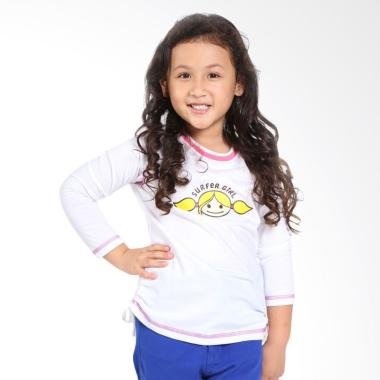 Surfer Girl Junior 7CARE Atasan Anak Perempuan - White