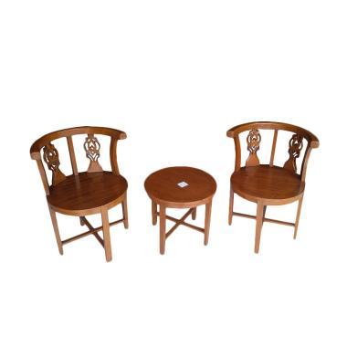 Mahardika Furniture 02 Jati Set Kursi Peluru - Cokelat