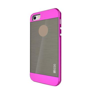 Slicoo Clear Back Side Cover Hardca ... ple Iphone 5 or 5S - Pink