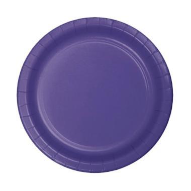 Grins And Giggles Paper Plate Plain Dekorasi Pesta - Purple