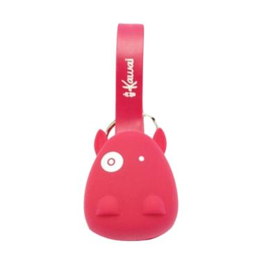 Ikawai Cow Head 2 In 1 Micro USB an ... ta for iPhone IOS - Merah