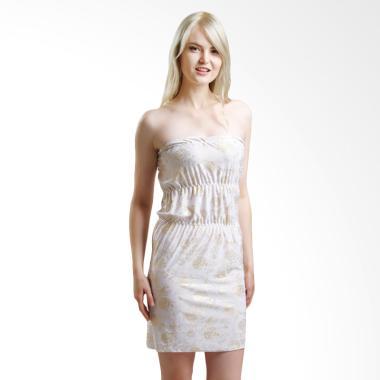Lingerie X Lingerie L-1022 Gold Flower Lingerie Dress - White
