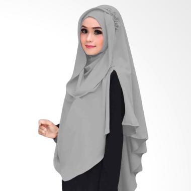 Kus Group Hijab Khimar Al Zaina Kerudung Instan Syar'i - Silver
