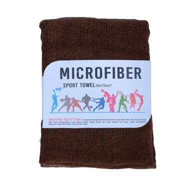 Mipacko Microfiber Handuk Olahraga - Brown [30 x 70 cm]