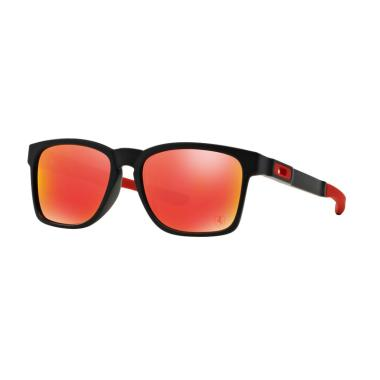 Oakley OO9272-927207 Catalyst Sungl ... ck Ruby Iridium [Size 55]