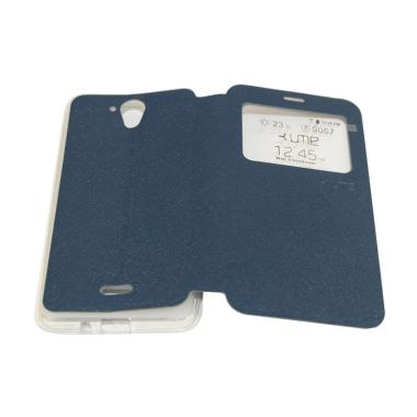 Ume Flip Cover Casing for Hisense F ... ndphone / View - Biru Tua