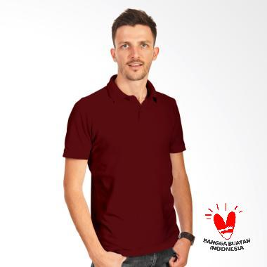 Morning Whistle Man Basic Polo Shirt Pria - Maroon Red Oriole