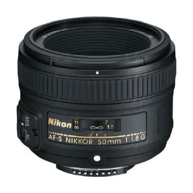 Nikon 50mm f / 1.8G AF-S NIKKOR FX  ... igital SLR Kamera - Hitam