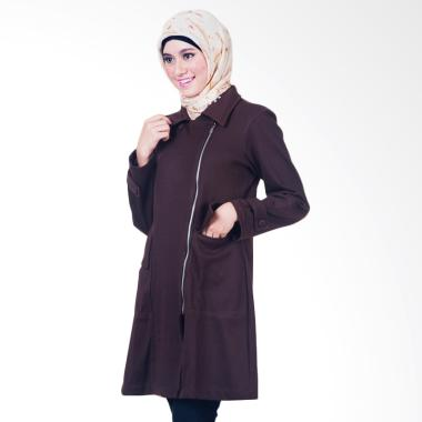 Believe BJM-01 Parka Ziper Hoodie C ... et Muslim Wanita - Coklat