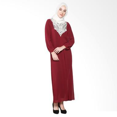 Aira Muslim Butik AB.D-003 Charisma Gamis Dress Muslim - Maroon