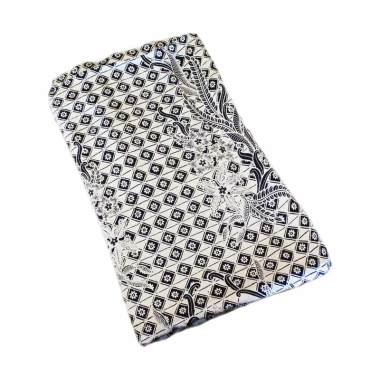 Batik Kusuma Sari Kain Batik Sutra Rentesan Latar Putih